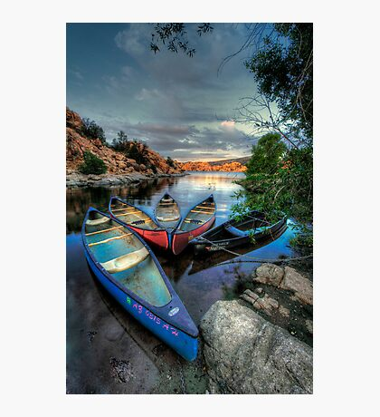 Rogue Canoes Photographic Print