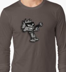 Spaceman Spiff - Greyscale Long Sleeve T-Shirt