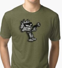 Spaceman Spiff - Greyscale Tri-blend T-Shirt