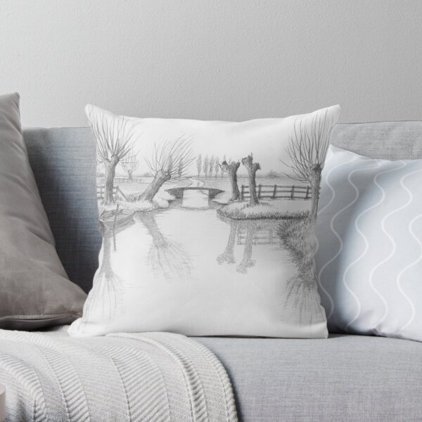 REAL DUTCH - PENCIL DRAWING Throw Pillow