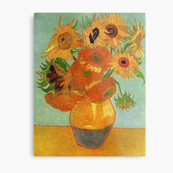 Vase With Sunflowers by Vincent Van Gogh Classic Art Vintage Repro Poster Print