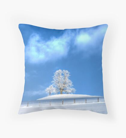 Against the Winter IV Throw Pillow