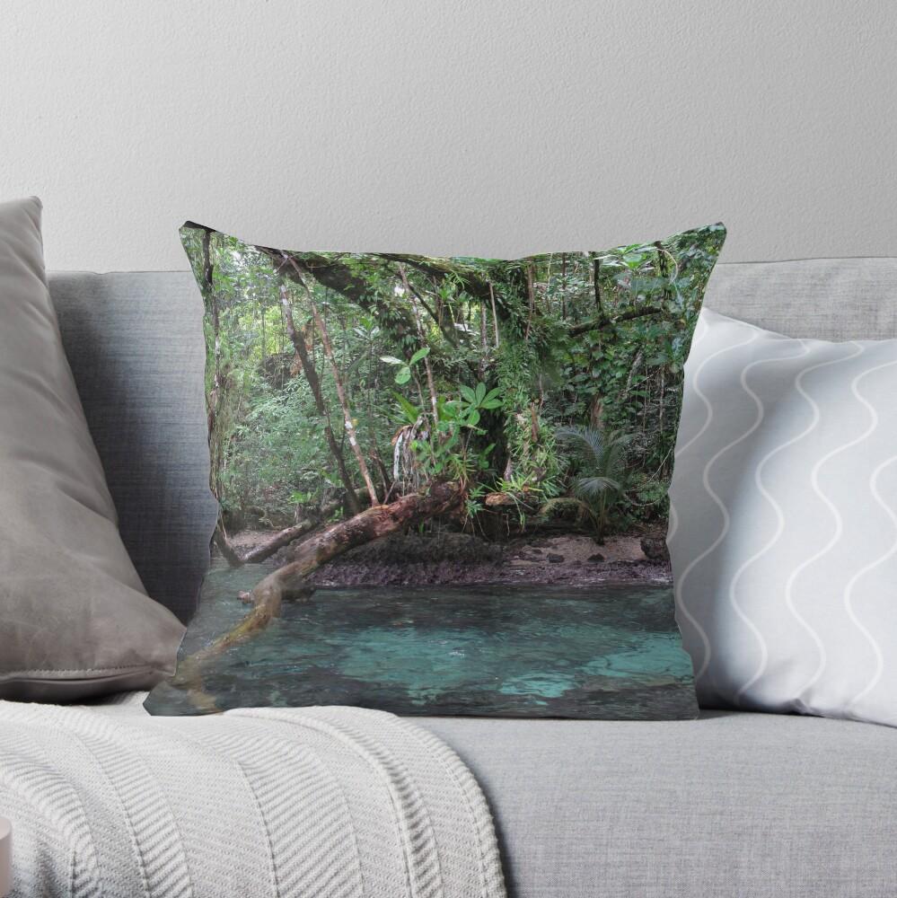 Jungle Shoreline III Throw Pillow