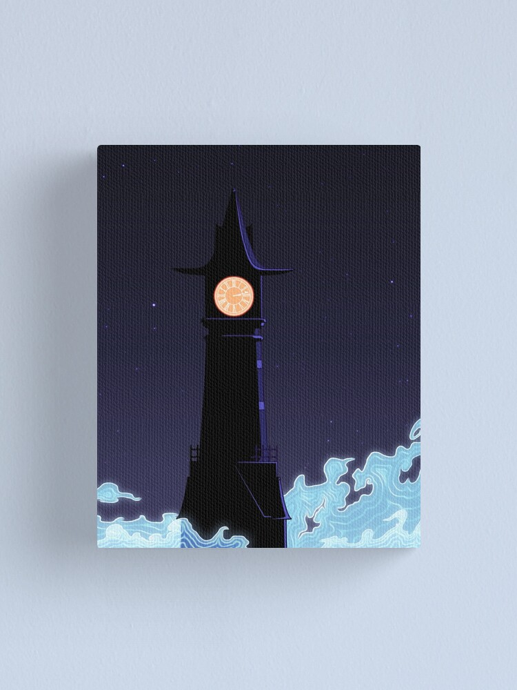 Alternate view of All Along The Clocktower Canvas Print