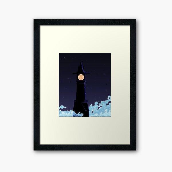 All Along The Clocktower Framed Art Print