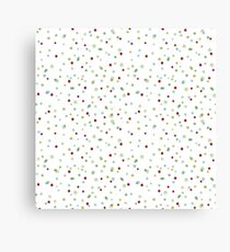 Funny and Cute Colorful Watercolor Dots pattern Canvas Print