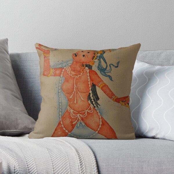 Vajrayogini, the Tibetan Buddhist Dakini Goddess Throw Pillow