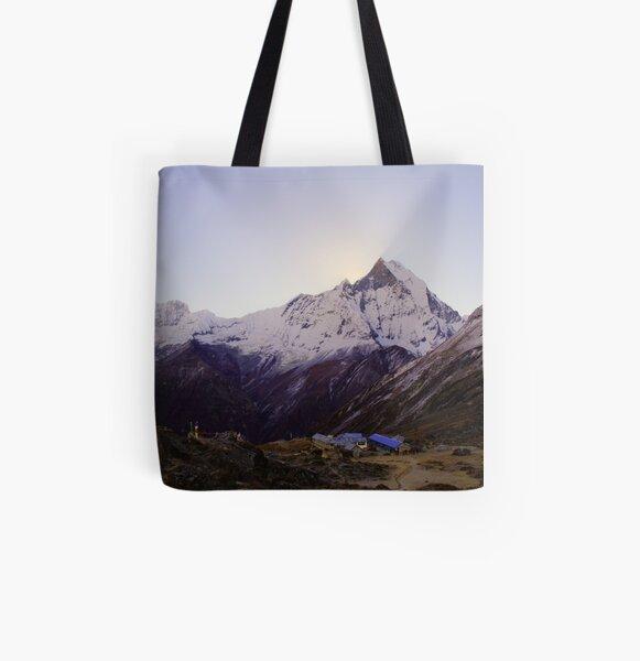 Annapurna Base Camp, Nepal. All Over Print Tote Bag