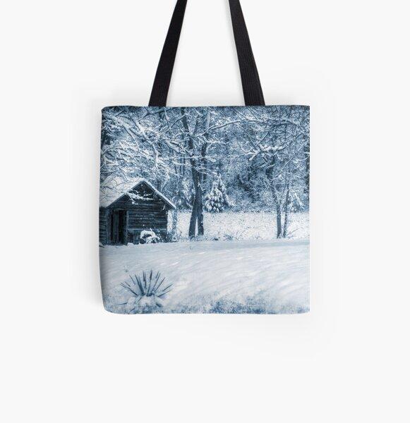Blue Christmas All Over Print Tote Bag