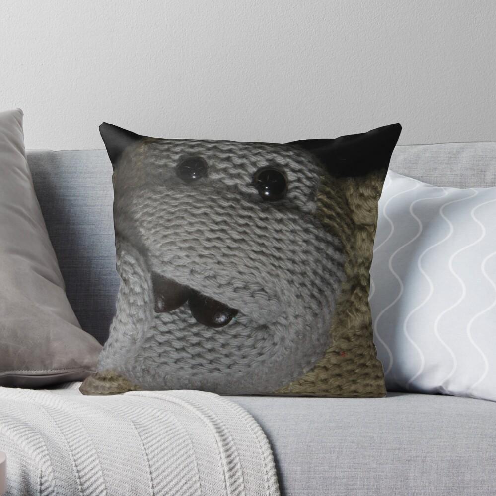Monkey Coffee Throw Pillow