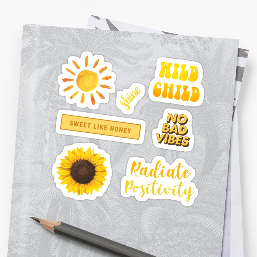 Yellow Sun Pack Stickers