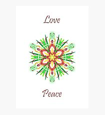 Season's Greetings Love & Peace Photographic Print