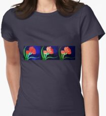 Evolution of a Painted Beauty Womens Fitted T-Shirt