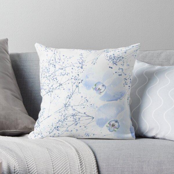 Winter Orchids Throw Pillow