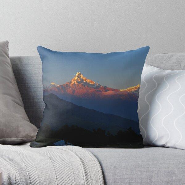 Annapurna, Hinchuli and Machhupuchare, Himalaya, Nepal. Throw Pillow