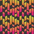 Neon abstrakte parallele Rechteckformen von Marlene Wagenhofer