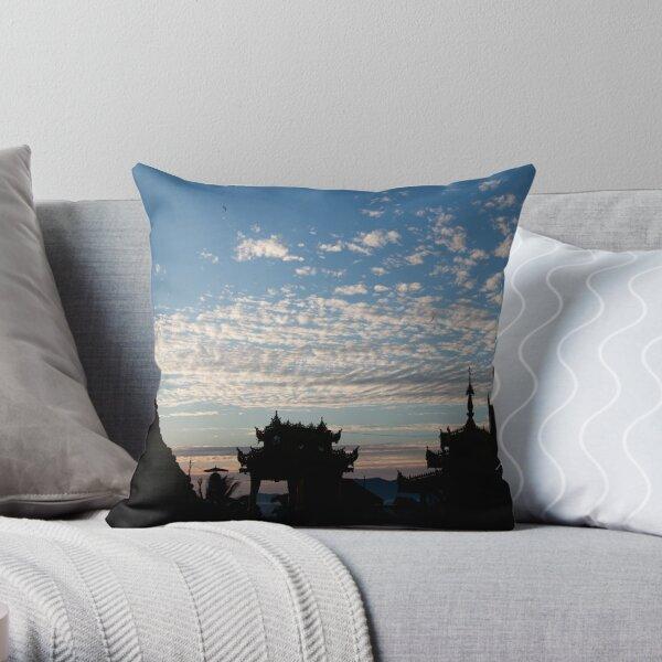 Mahamuni Paya Sunrise Throw Pillow