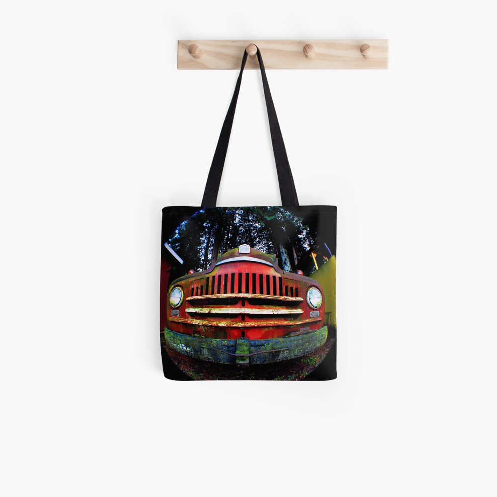 Happy Retired Logging Truck Tote Bag
