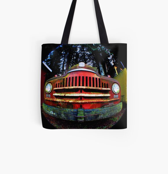 Happy Retired Logging Truck All Over Print Tote Bag