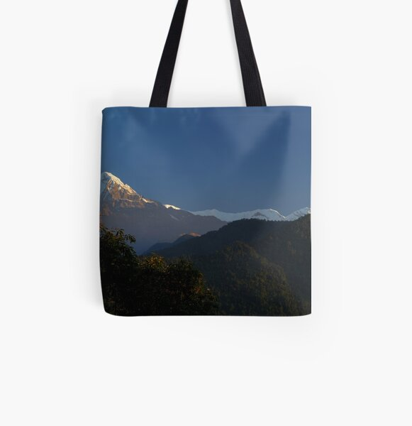 Annapurna Sanctuary, Himalaya, Nepal. All Over Print Tote Bag