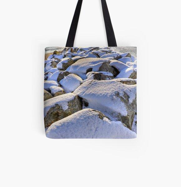 Sun Sea Snow All Over Print Tote Bag