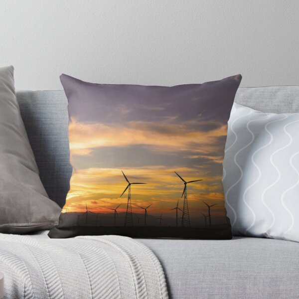 Harnessing the Desert Winds, Palm Springs CA Throw Pillow
