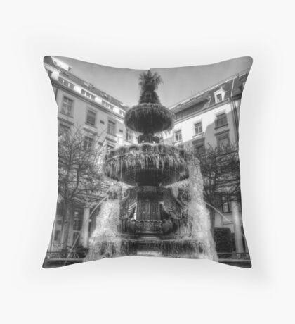 Frozen Fountain Throw Pillow