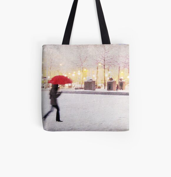 Antwerp in the Snow, Belgium All Over Print Tote Bag