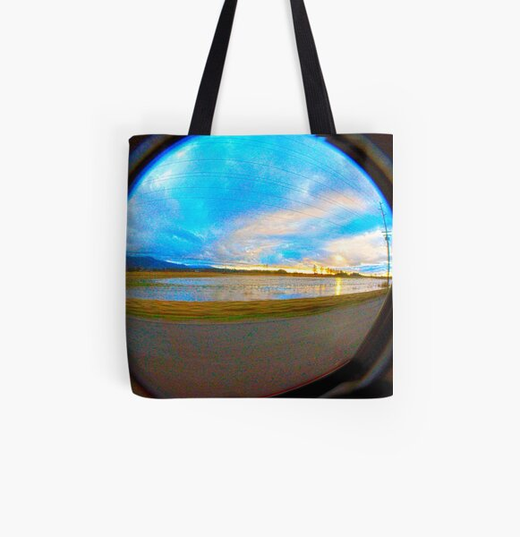 Too Much Rain All Over Print Tote Bag