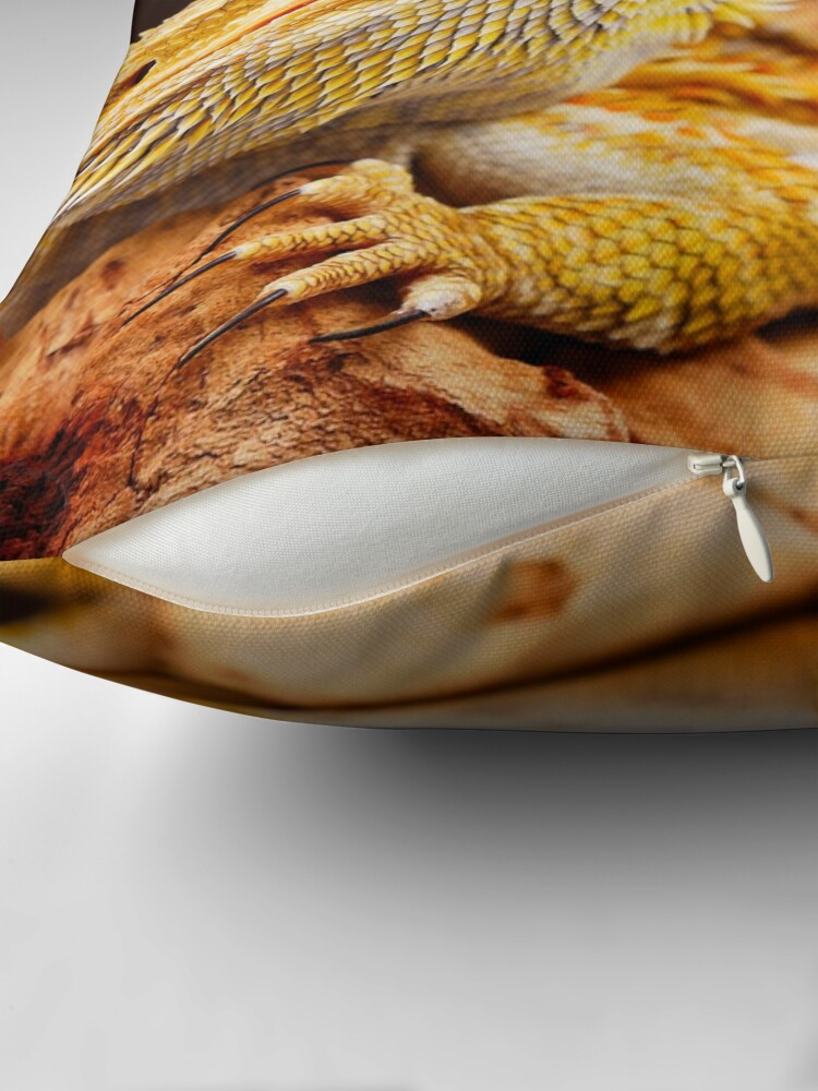 Alternate view of Central Bearded Dragon (Pogona vitticeps) Throw Pillow