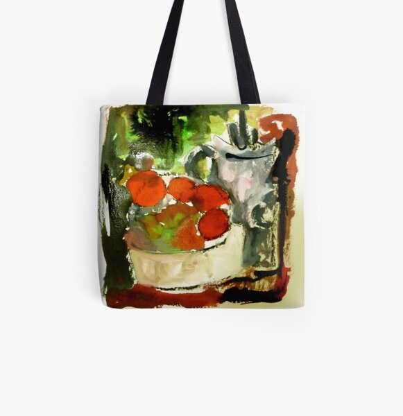 tomatoes and pot All Over Print Tote Bag