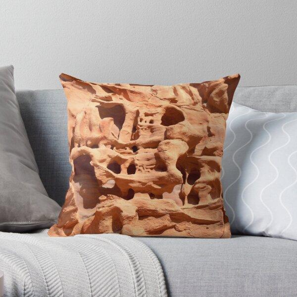 wheathered stone Throw Pillow