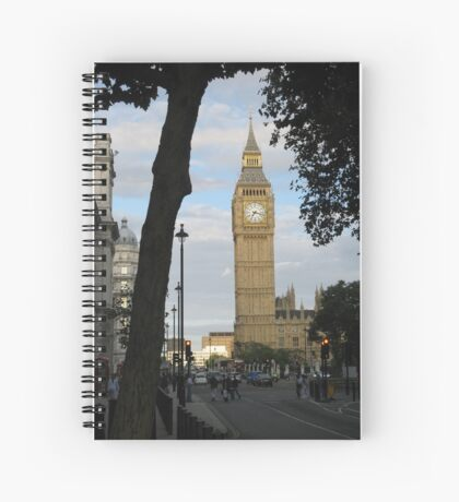Big Ben Through the Tree Spiral Notebook