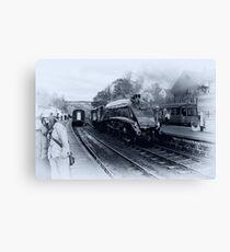 A4 Steam Train - Grosmont Canvas Print