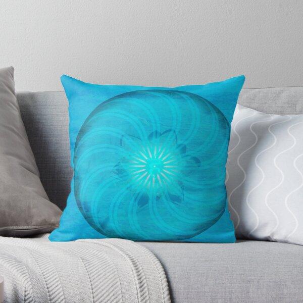 Throat Chakra ~ Blue ~ Vishudah ~ Female Throw Pillow