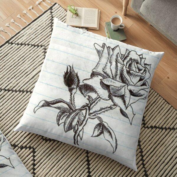 First Rose Floor Pillow