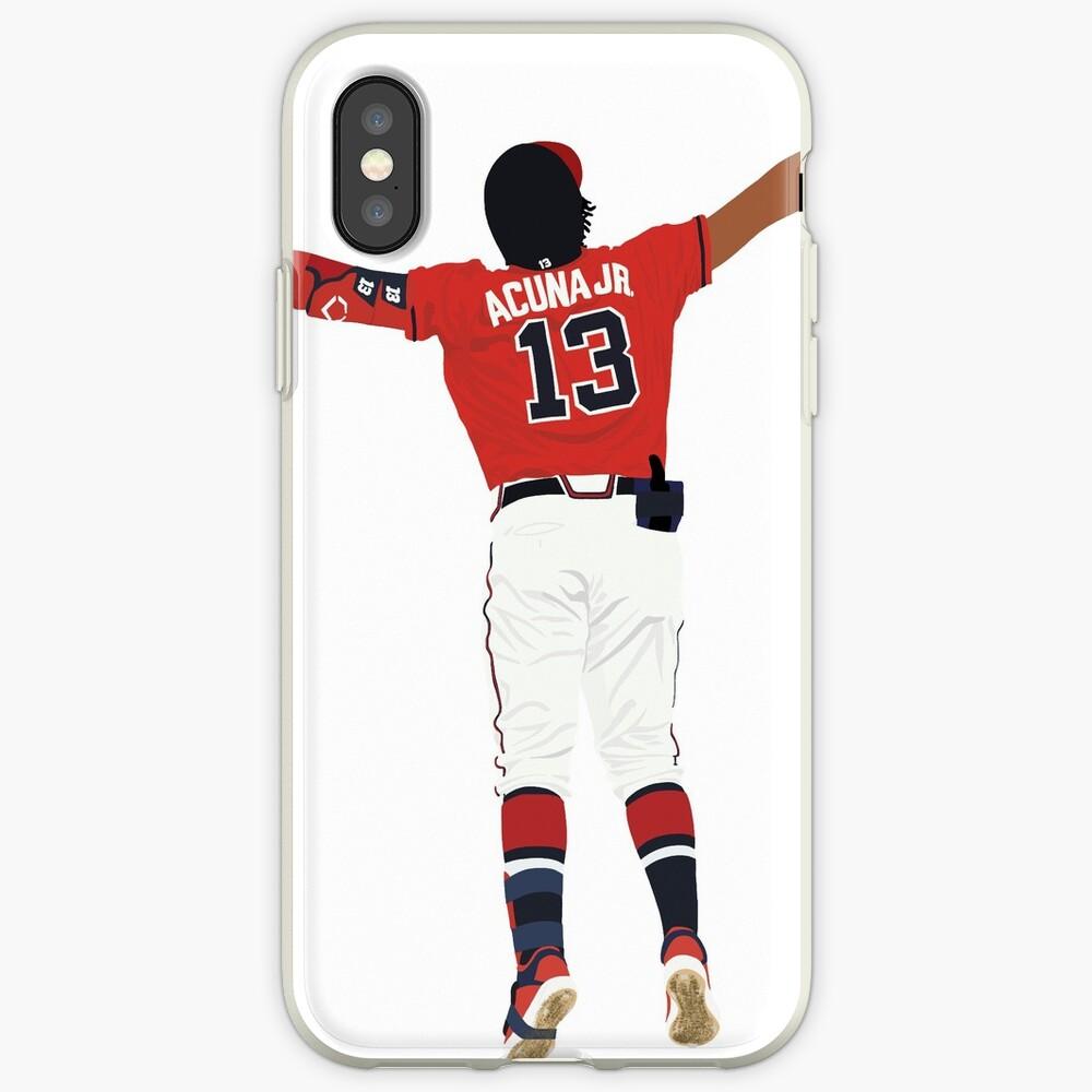 Ronald Acuña Jr. Home Run Feier iPhone-Hülle & Cover