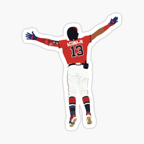 Ronald Acuña Jr. Home Run Celebration  Sticker