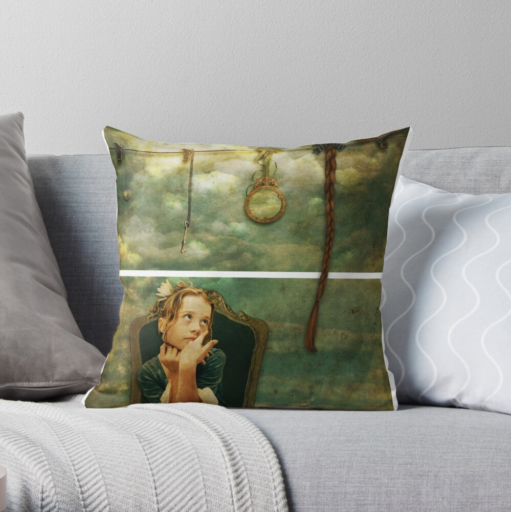 Rapunzel Dreams Throw Pillow