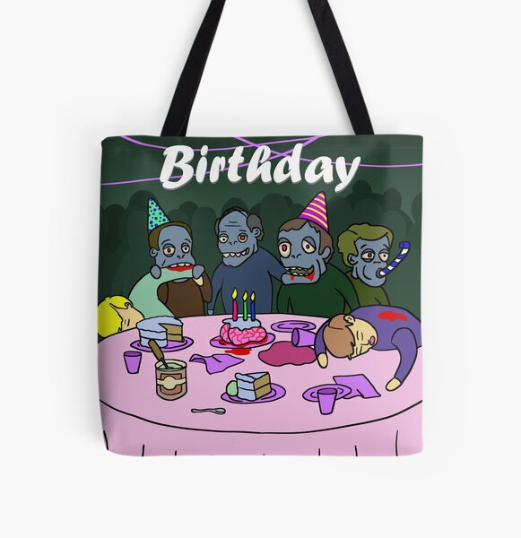 Zombie Party All Over Print Tote Bag