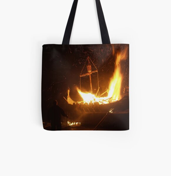 Setting the Galley Alight All Over Print Tote Bag