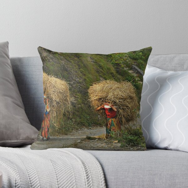 A Heavy Load Throw Pillow