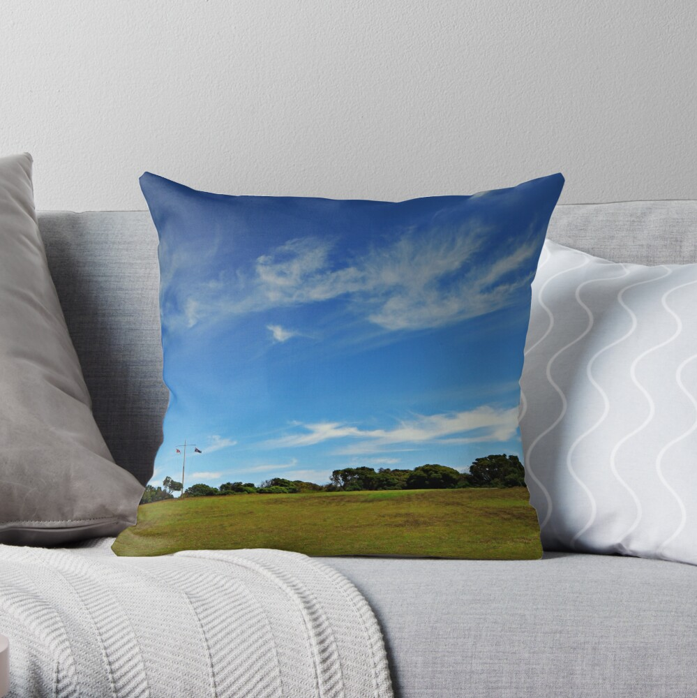 Cape Schanck Lighthouse Panorama Throw Pillow