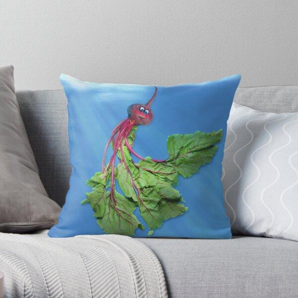 Beethany, the Jellyveggie Throw Pillow