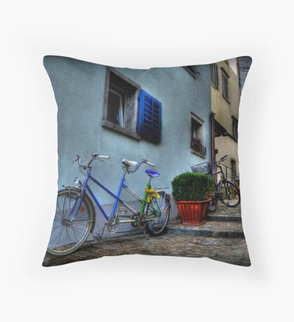 A Bicycle Built For Two Throw Pillow
