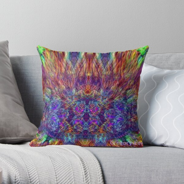 Live Electric J Places Throw Pillow