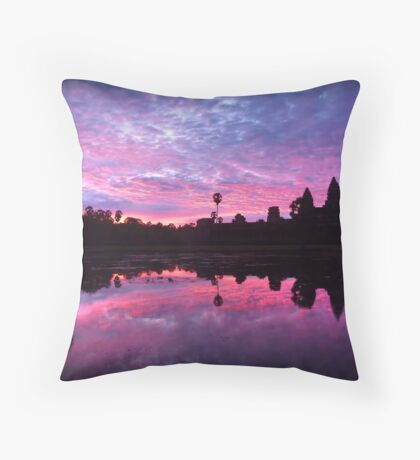 Reflections of Cambodia Throw Pillow