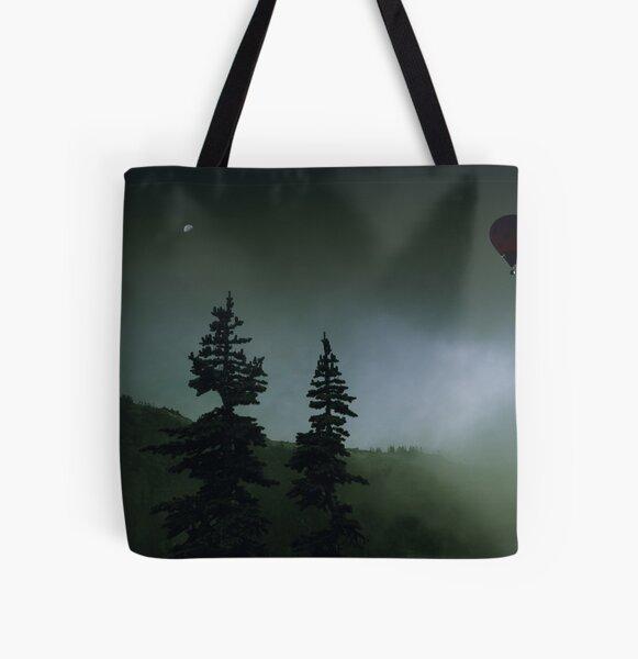 balloon over Whistler_ All Over Print Tote Bag