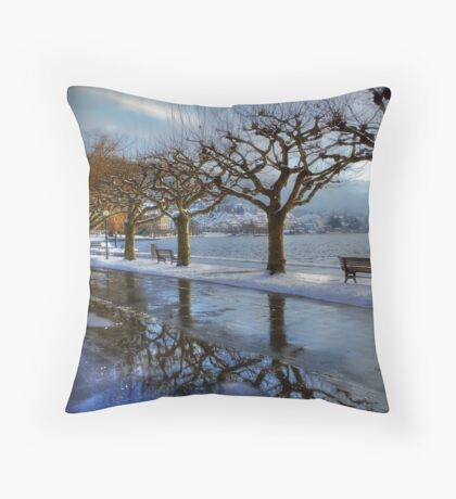 The town for the Trees Throw Pillow