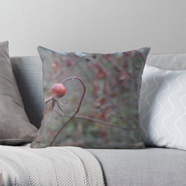 tangled rosehip Throw Pillow